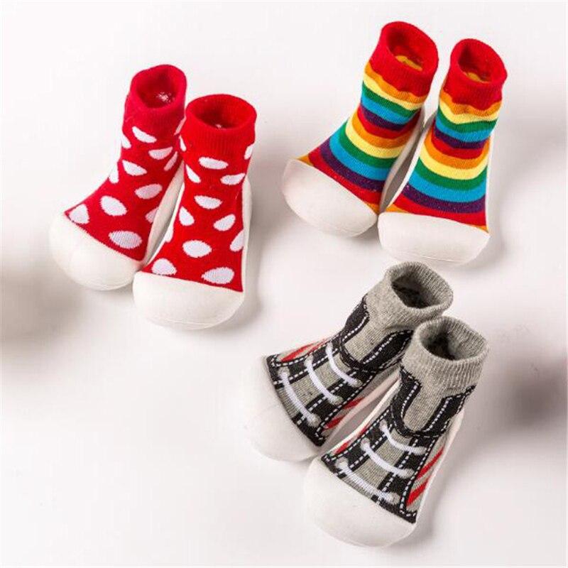 Kids Shoes Socks First-Walkers Booties Non-Slip Toddler Newborn Baby Baby-Boys-Girls