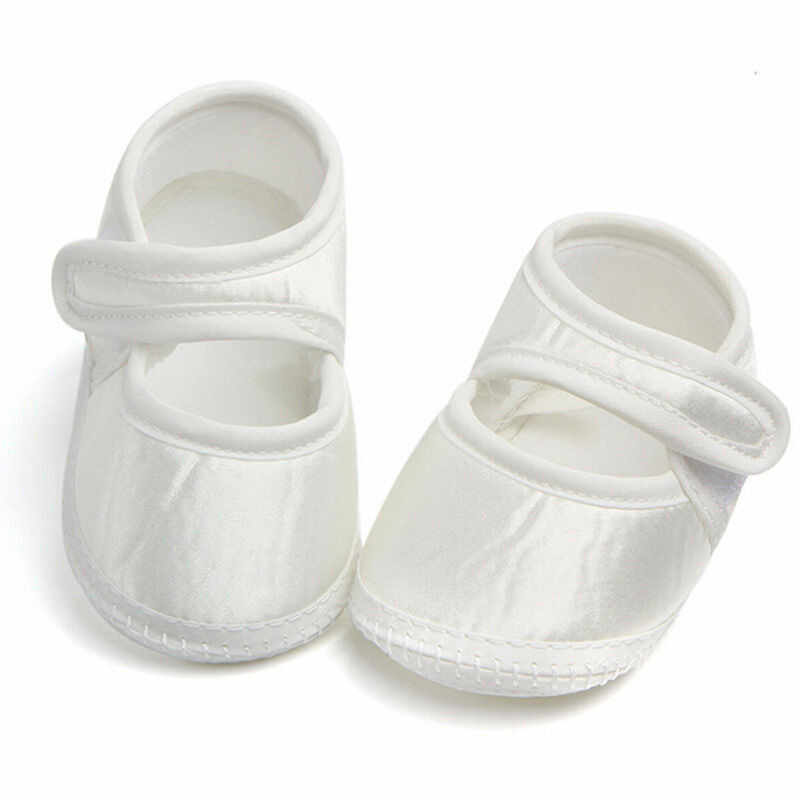 PUDCOCO Baby Newborn Toddler Girl Solid White Crib Shoes Pram Soft Sole Prewalker Anti-slip Sneakers For 0-6month