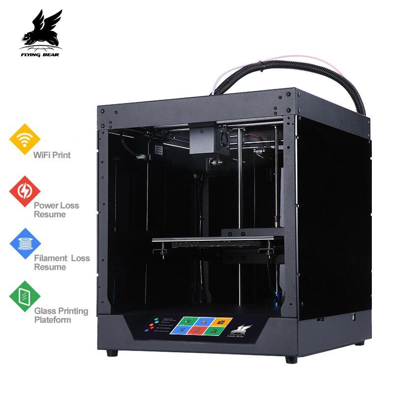 Новый дизайн Flyingbear-Ghost 3d принтер Полный металлический каркас Высокоточный 3d Принтер Комплект imprimante impresora стеклянная платформа wifi