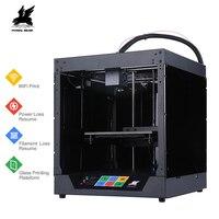 Новый дизайн Flyingbear Ghost 3d принтер Полный металлический каркас Высокоточный 3d Принтер Комплект imprimante impresora стеклянная платформа wifi