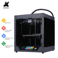 Newest Flyingbear Ghost 3d Printer full metal frame High Precision 3d printer kit imprimante impresora glass platform wifi