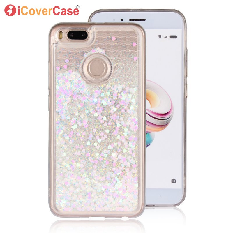 Fitted Cases Hearty For Xiaomi Mi 5x Mi5x Phone Cases Glitter Stars Dynamic Liquid Quicksand Soft Tpu Back Cover For Xiaomi Mi A1 Capa Shells Phone Bags & Cases