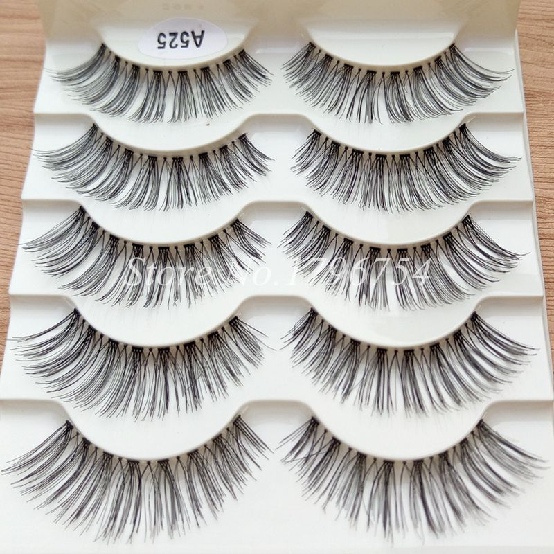 YOKPN 5 Pair/Lot Crisscross False Eyelashes Eye Lashes Make Up Long Thick Fake Eyelashes Extensions Makeup False Lashes