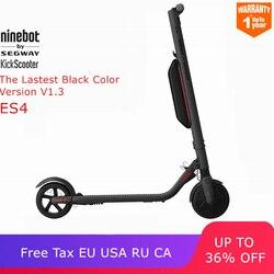 Ninebot KickScooter ES4/ES2 Smart Electric Scooter foldable lightweight board hoverboard skateboard V1.3 Black Color Version