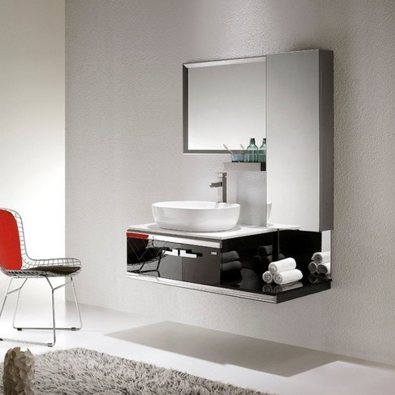 High diffuse bathroom mirror cabinet stainless steel bathroom cabinet portfolio on ceramic wash basin wash basin vanity counter-in Bar Stools from Furniture ... & High diffuse bathroom mirror cabinet stainless steel bathroom ...