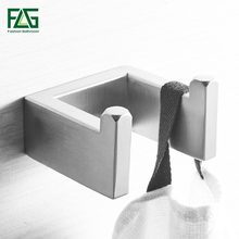 купить FLG Robe Hook Clothes Hook 304Stainless Steel Nickel Brushed Finish Square Bathroom hook Bathroom Accessories дешево