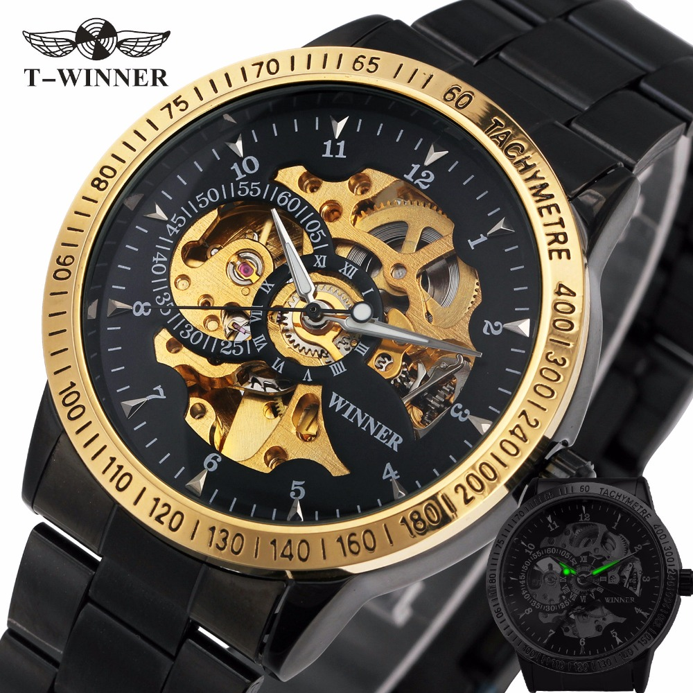 2018 New Winner Luxury Sport Clock Men Automatic Watch Skeleton Military Mechanical Watch Relogio Montre Brand Mens Wristwatch