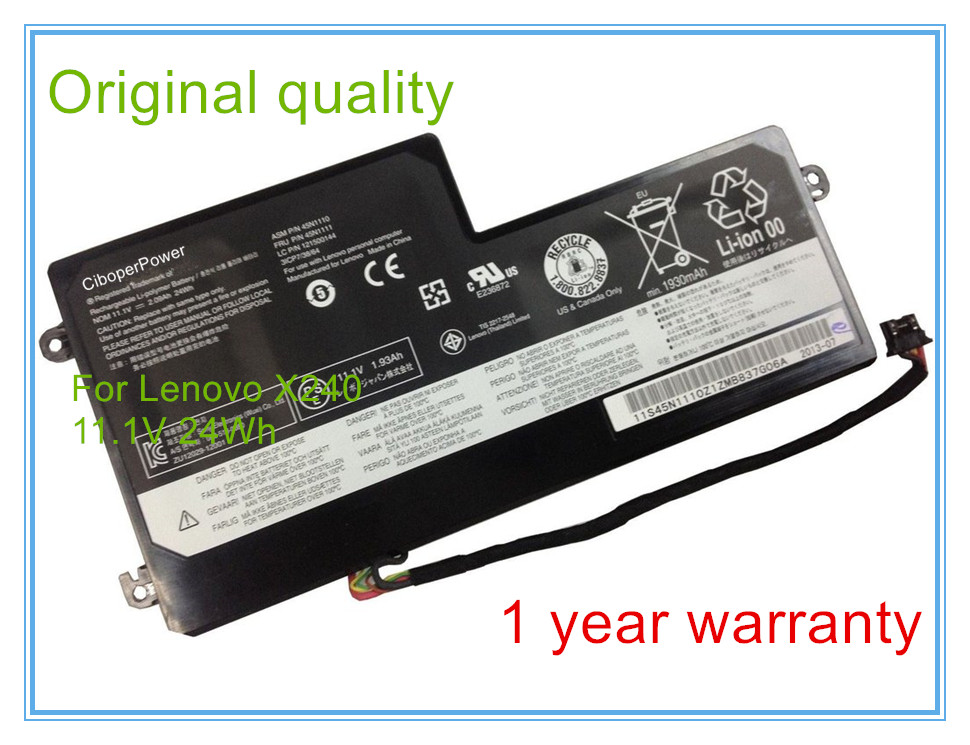 Original laptop <font><b>battery</b></font> X240 X240S X250 X250S <font><b>T440</b></font> T440S T540 <font><b>batteries</b></font> 45N1108 45N1109 45N1112 45N1113 image