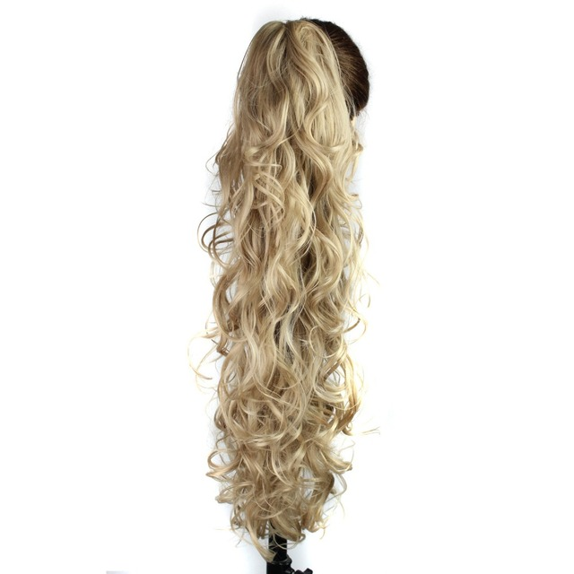 Luxury for Braiding 30inch 210g  Long Wavy High Temperature Fiber Synthetic Hair Pieces Claw Clip Ponytail Extensions for Women 3