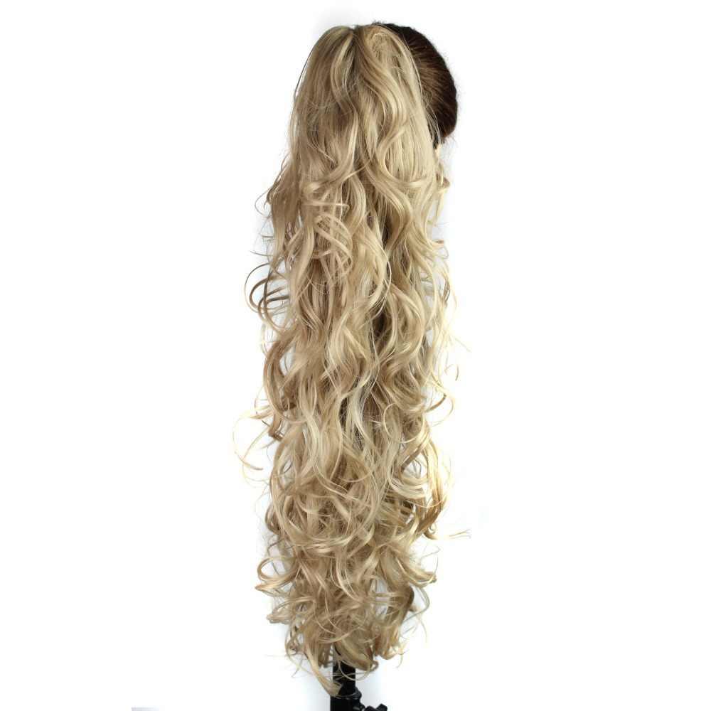 Роскошные для плетения 30 дюймов 210 г длинные волнистые волосы из высокотемпературного волокна синтетические волосы на заколках для наращивания конского хвоста для женщин