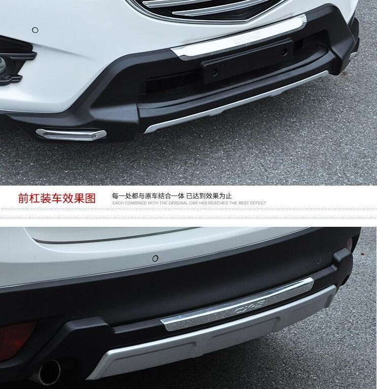 Front Bumper Protector Head Bumper Sill Trim Abs Chrome Car Accessories For Mazda Cx 5 Cx5 2012