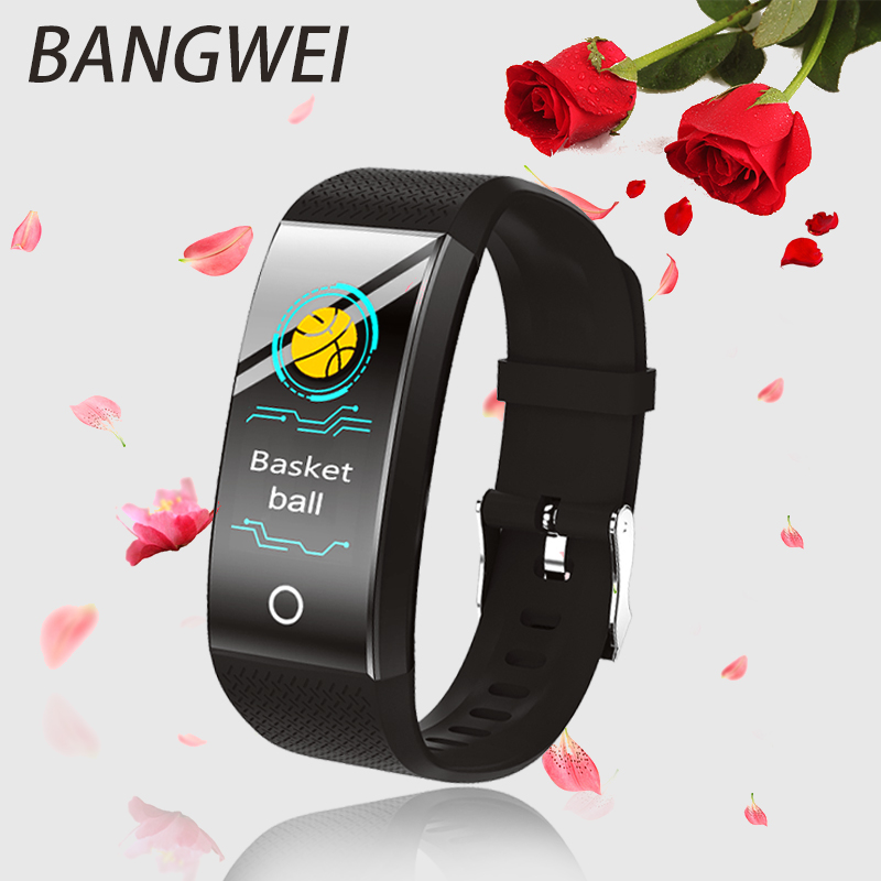 Men's Watches New Bangwei Fitness Smart Watch Heart Rate Monitor Blood Pressure Fitness Tracker Smart Band Sport Watch For Ios Android Swim Watches