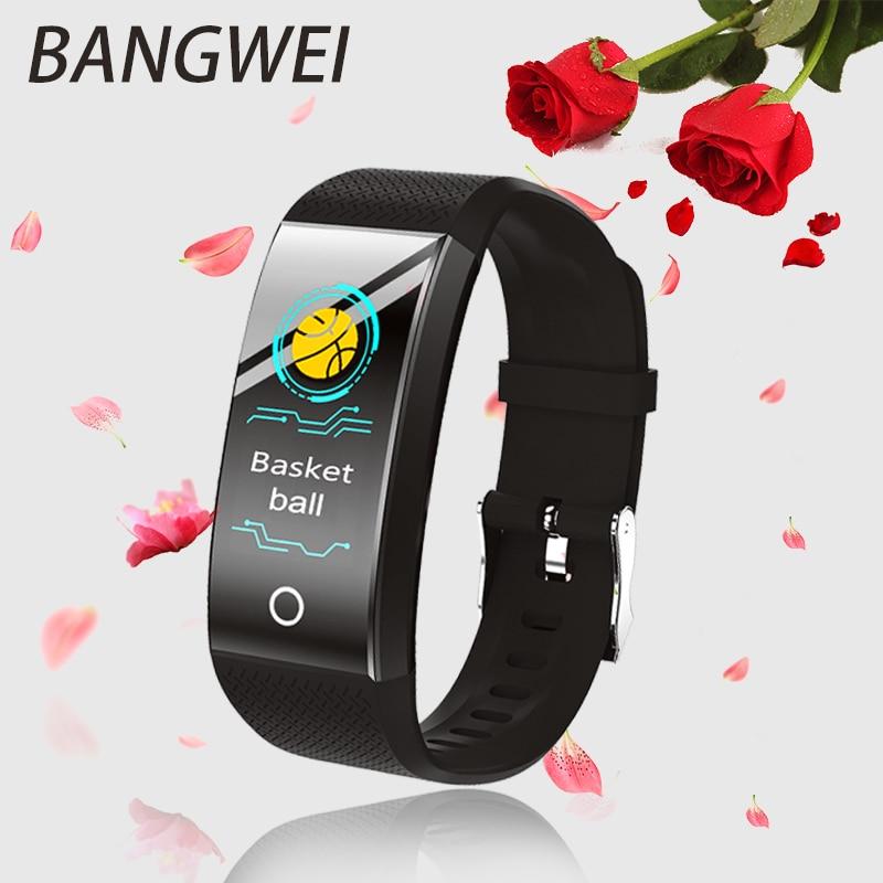 BANGWEI Intelligente Fitness Orologio Tempo di Frequenza Cardiaca Monitor di Pressione Sanguigna Per Il Fitness Tracker Vigilanza di Sport Intelligente per ios Android di Nuoto