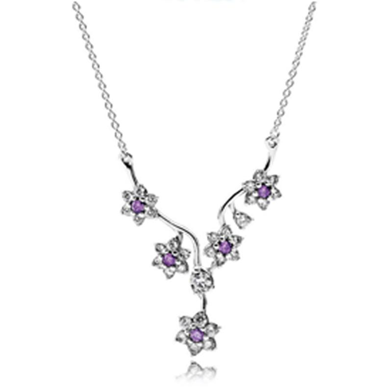 KAKANY Summer bloom Pendant Necklace Has Logo 100% Pure Silver Foundation Chain Factory Wholesale Free Mail Fashion Womens