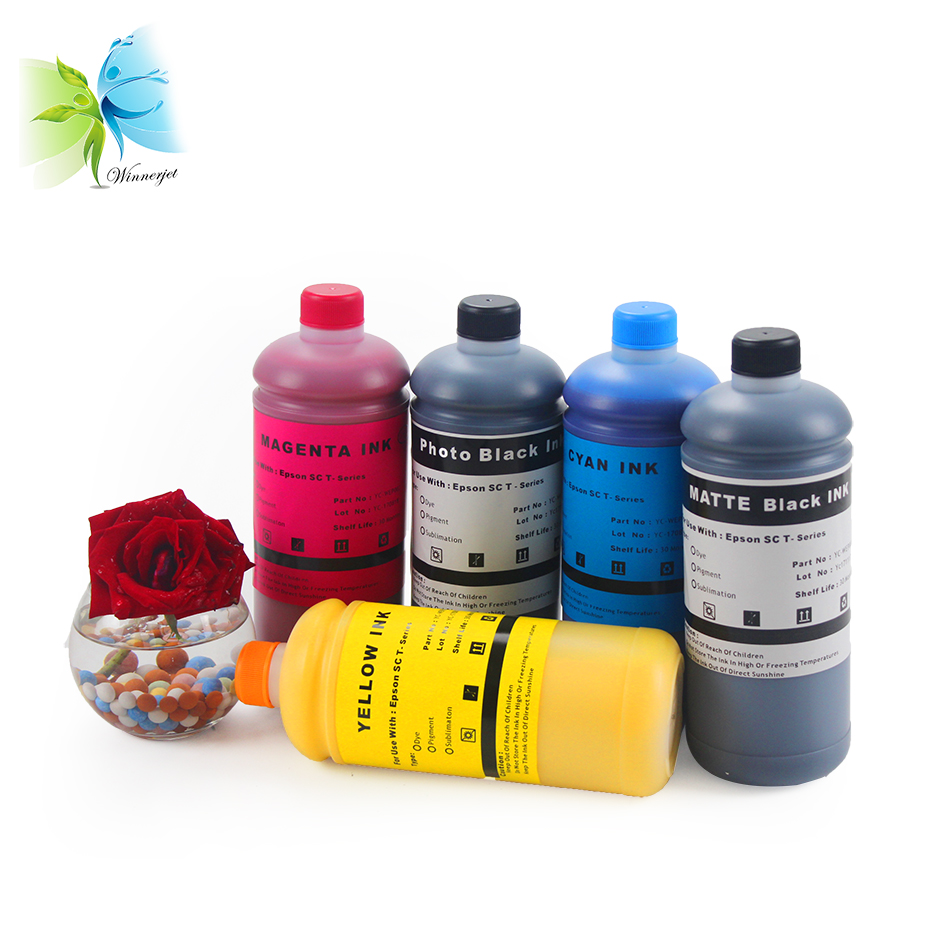 WINNERJET Pigment Ink for Epson Surecolor SC T3270 T5270 T7270 Printer Ink Refills Kits in Ink Refill Kits from Computer Office