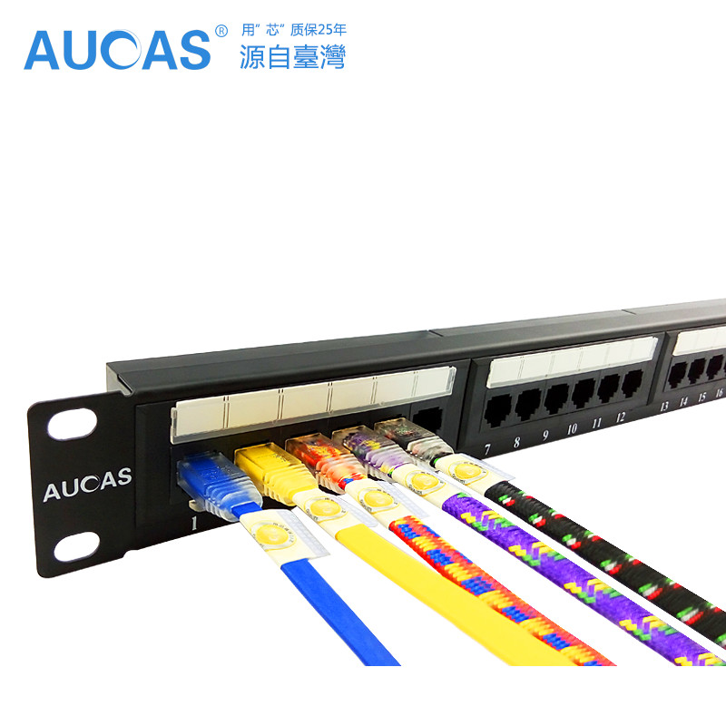 все цены на AUCAS 24 Ports CAT6 UTP Keystone Patch Panel cat6 Cable Frame Faceplate rj45 patch panel 24port онлайн