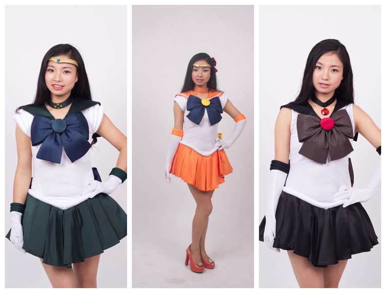 Japanese Anime The Sailor Moon Cosplay Costume Full Set Halloween Stage Party New Fashion Figure Cosplay Suit Drop Ship