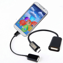 Micro USB To USB OTG Host Cable For Samsung Huawei Xiaomi Android Phone Tablet PC Mini USB OTG Cable Micro Usb Otg Adapter Black