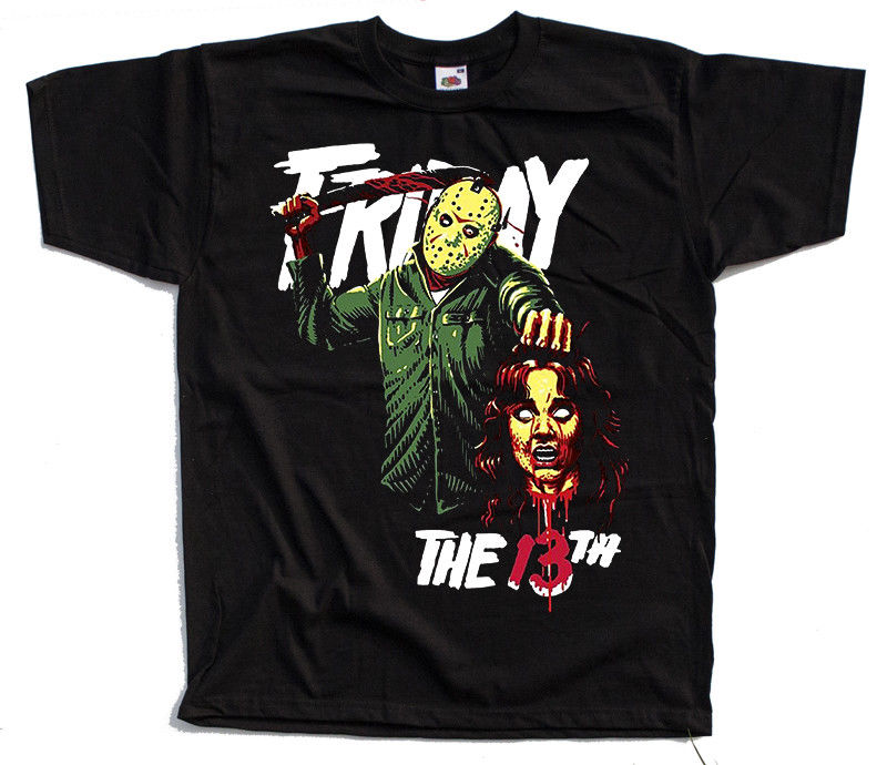 Friday The 13 V4 Movie Black T Shirt All Sizes S 4Xl
