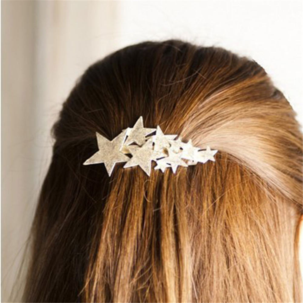 2019 New Women Acetate Star Alloy Hair Clip Headwear Hair Ornament Headband Hairpin Barrette Fashion Hair Accessories