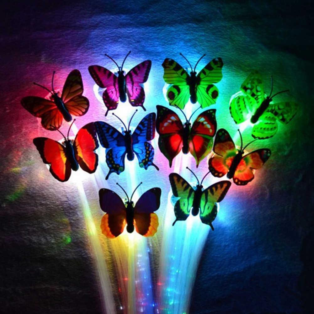 ألوان عشوائية الطرف LED براق توهج ضفائر شعر فلاش LED الألياف دبوس الشعر كليب تضيء عقال الطرف توهج الملحقات