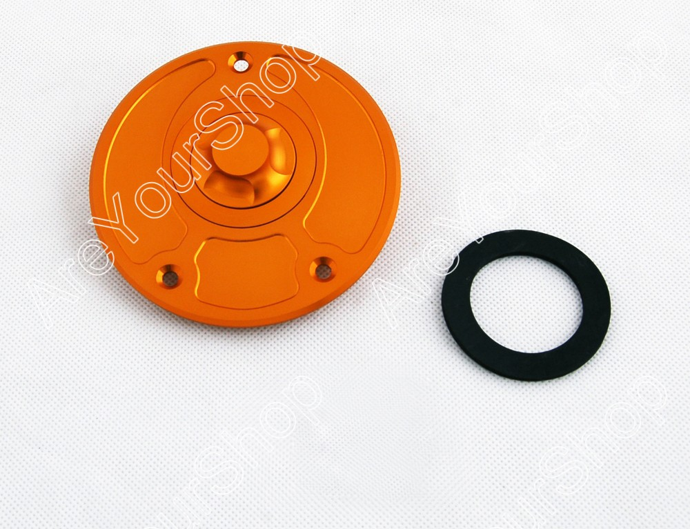 Sale Keyless Fuel Gas Cap for Kawasaki Gold fit for ZX-14 (2006-2008) ZZR1200 (2002-2005) ZRX1200R (2001-2005)