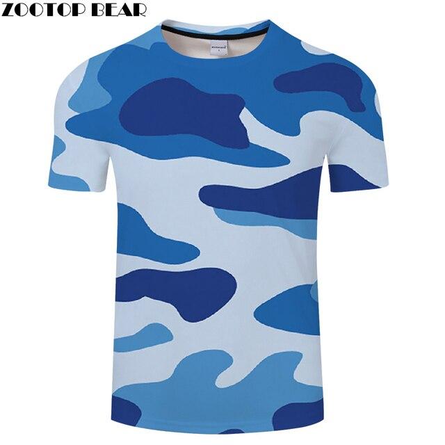 0adb53d7 ... New 3D Printing t shirt Men Women tshirt Summer Casual Blue Camo