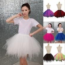 Women Tulle Skirts Fashion Elastic High Waist Mesh Adult Tutu Skirt Flare Mini Skirt Saias Faldas Jupe Femmle