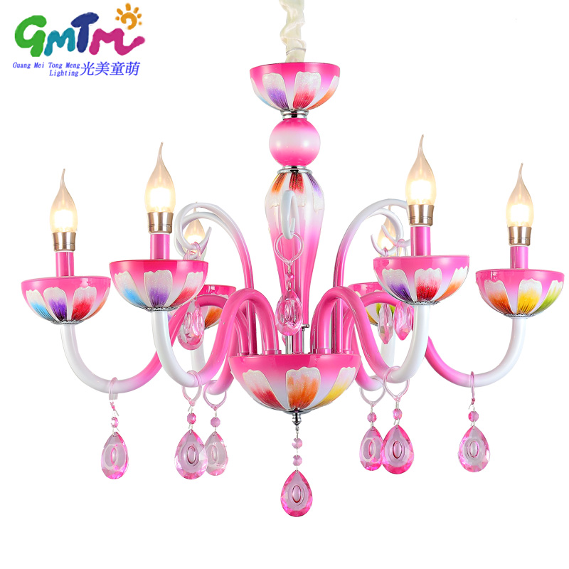 2017 HOT SALE Contemporary Chandelier Living Room Ceiling Chandeliers Pink Candle For The Bedroom