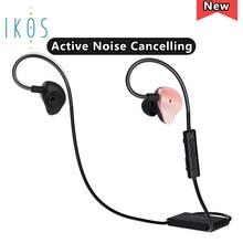 IKOS Active Noise Cancelling Headphone Bluetooth Headphones In Ear Microphone Hi-Fi Deep Bass Wireless Headphones Travel Work TV