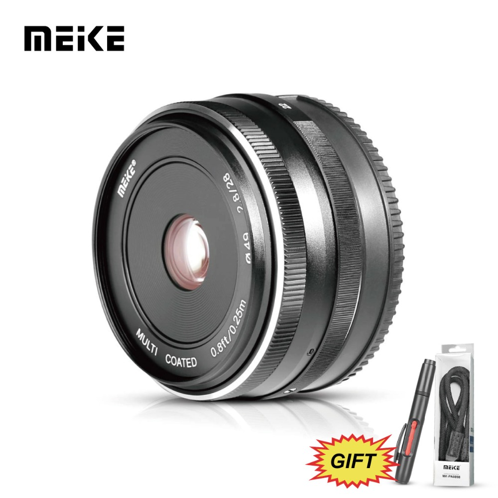 MEKE MK 28mm f/2.8 Fixed Manual Focus Lens for Fujifilm FX-mount Camera X-Pro2/X-T1/X-A2/X-E2/X-E2s/X-E1/X-M1/X-T10/X-Pro1/X-T2 x