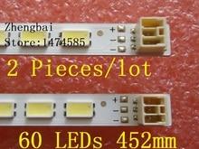 2 pièces/lot 60LED LED bande de Rétro Éclairage pour LC 40LE511 40BL702B LE4050b LE4052A LE4050 LE4052 LJ64 03567A H1LTA400HM08