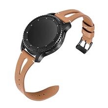 22mm Genuine Leather strap for huawei watch gt Samsung galaxy watch 46mm S3 frontier huami amazfit 1/2 band smart watch belt watch band for 22mm samsung gear s3 real leather with silicone watch strap for huawei watch 2pro wrist belt for huami amazfit 1