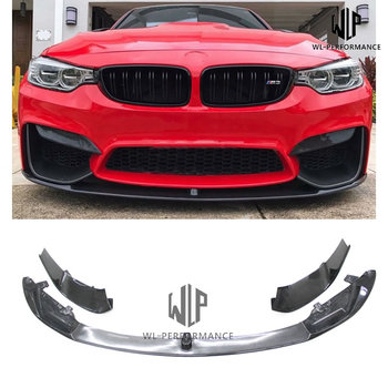 F82 M4 High Quality Carbon Fiber Front Lip Side Splitters Car Styling for BMW 4 Series F82 420i 428i 435i 2014-UP image