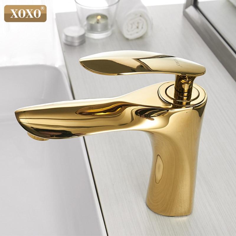 XOXO Bacia Torneiras Quente e Fria Bacia Água da Torneira Do Banheiro Bacia Toque Mixer Chrome Único Punho Sink Toque Mixer 20055