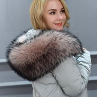 women's Faux fur collar cap fox fur big collar raccoon fur collar muffler jacket coat collar Dickie