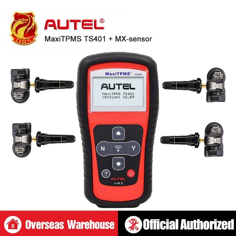 Outil de Diagnostic Autel MaxiTPMS TS401 TPMS 433 MHz 315 MHz mx-sensor lecture de la pression des pneus Diagnostic activer outil de décodage outils de voiture