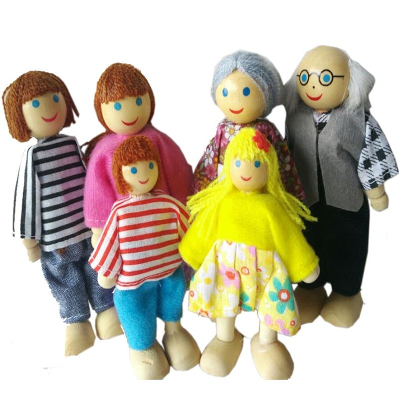 1:12 Poppen Mini Houten Pop Voor Poppenhuis Meisjes Meubels Speelgoed Kids Familie Fantasiespel Speelgoed Miniatuur Pop Voor Kinderen Geschenken Bevorder De Productie Van Lichaamsvloeistof En Speeksel