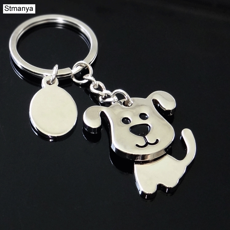 Hot Men New Shaking Dog High Quality Metal Key Chain Bag Fashion Accessories New Women Best Gift Jewelry K1968