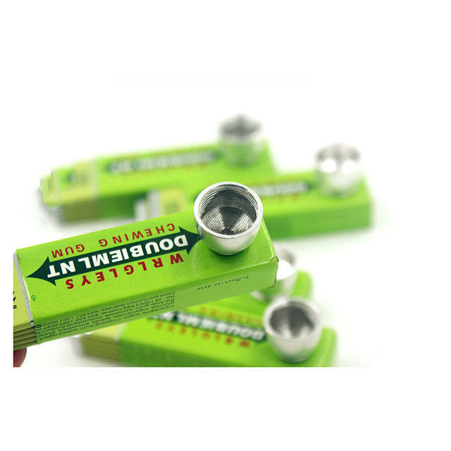 Fashion Chewing Gum Shape Rasta  Metal Tobacco Pipes Smoking Pipe Rasta Novelty Items Herb Tobacco Pipes