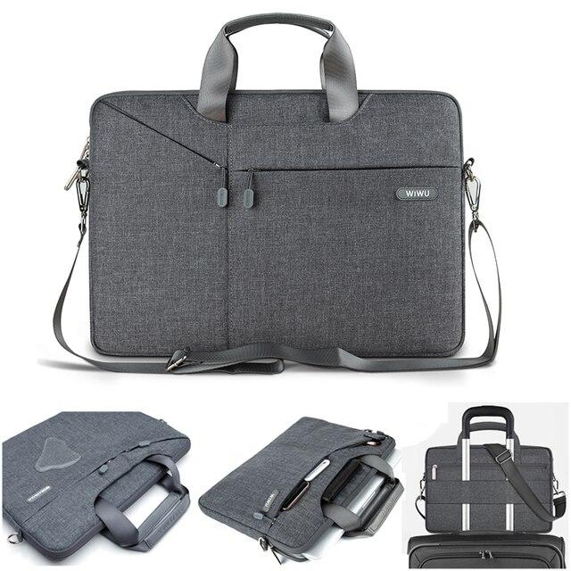 Impermeable hombro bolsa funda 15,6 13,3 12 para MacBook Air 13 15 Pro libro de superficie Pro 4/5/ 6 para Dell XPS 14 Lenovo YOGA