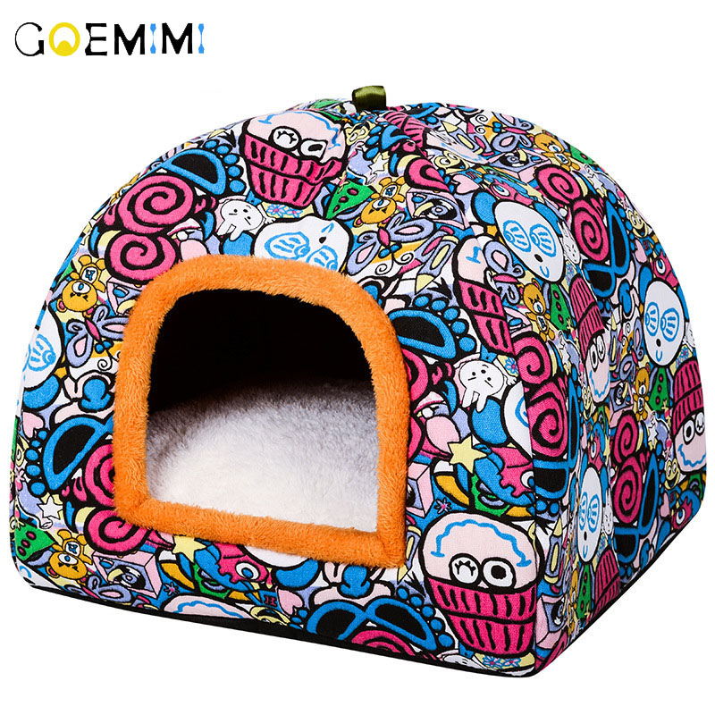 Pet Dog Bed & Sofa Warming Dog House Soft Dog Nest Winter Kennel For Puppy Cat Plus Size Small Medium Dogs Pet