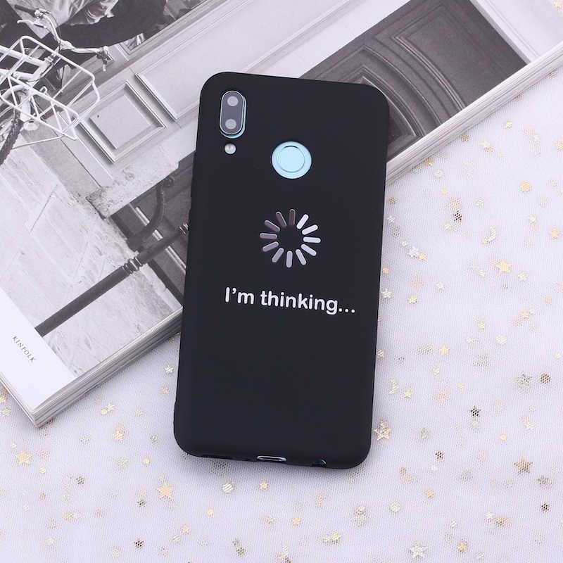 لسامسونج S8 S9 S10 S10e زائد ملاحظة 8 9 10 A7 A8 أنا التفكير مضحك الميمات الحلوى سيليكون غطاء إطار هاتف محمول كابا Fundas كوكه