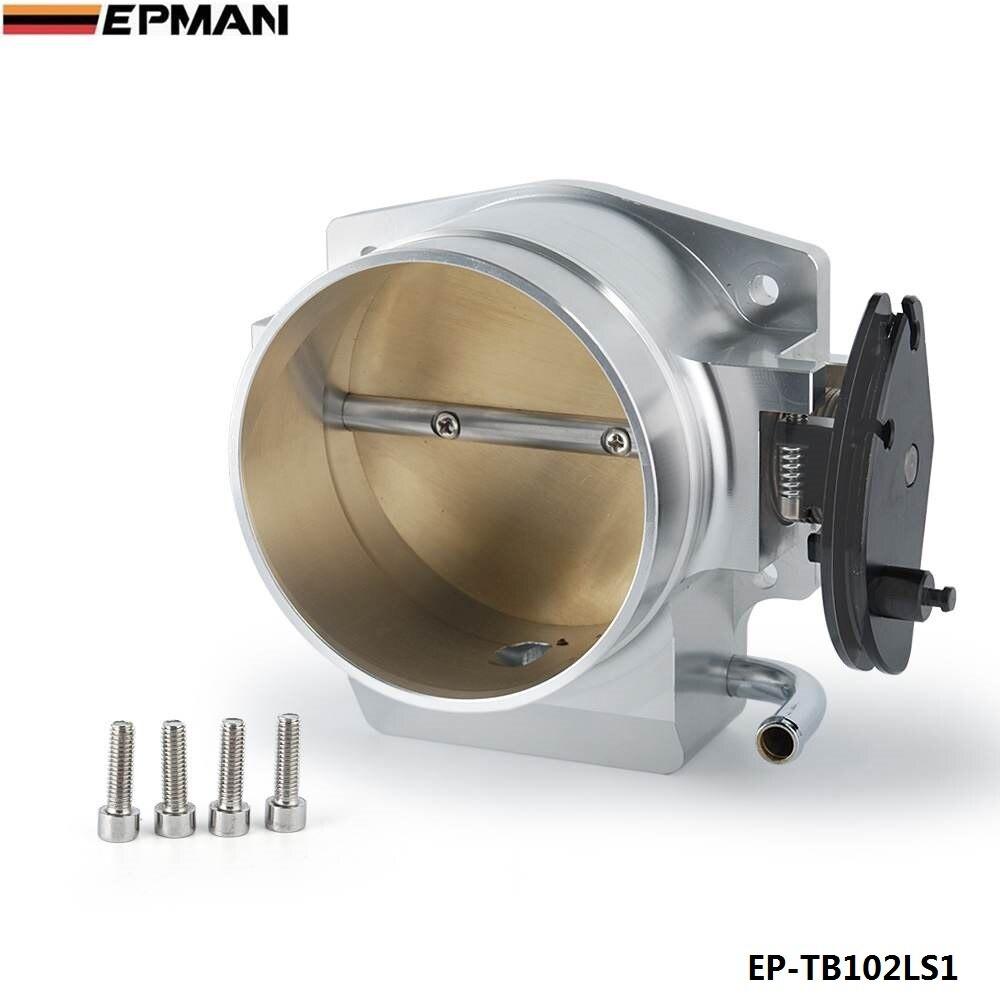 Pour GM LS1 LS2 LS4 LS6 LS7 collecteur d'admission en Aluminium 102 MM Kits de corps d'accélérateur argent EP-TB102LS1