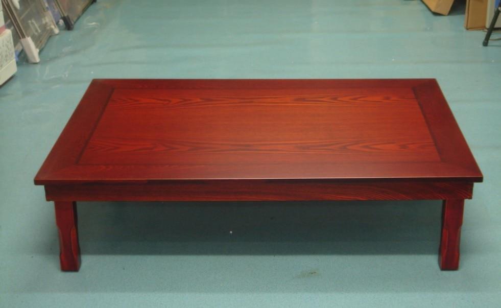 Korean Dining Table Wood Legs Folding Rectangle 120x80cm Living Room Furniture Asian Antique Floor Tea Table Wooden Center Table