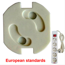 Electrical hole shock security european standard socket lock safe electric protection
