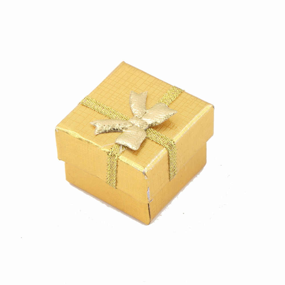 ต่างหูแหวนสร้อยคอจี้ Lilac เครื่องประดับของขวัญกล่องสีเขียวสีฟ้าบรรจุภัณฑ์ผู้ถือโบว์กระดาษแข็งสีสุ่ม