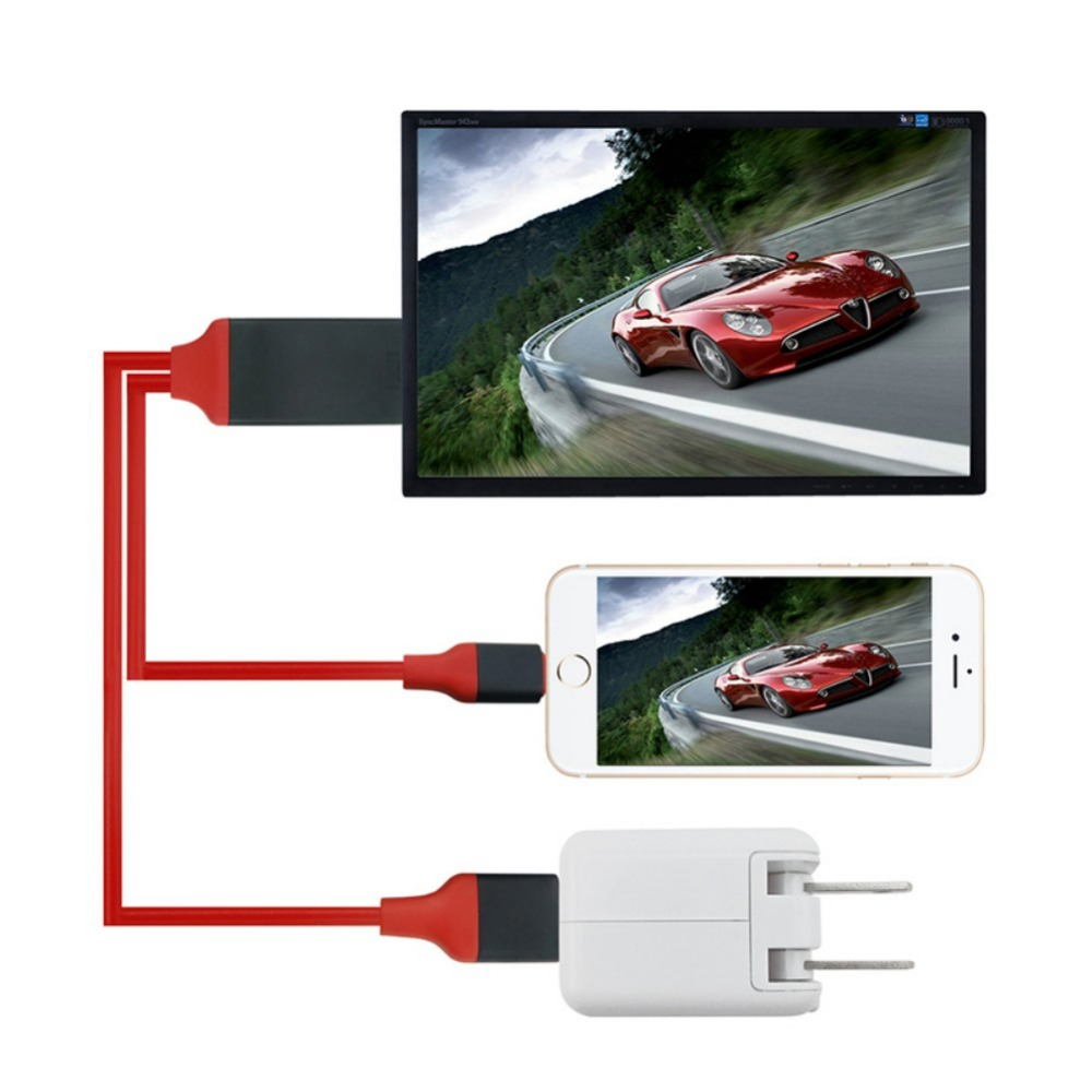 For IPhone 1080P HD TV Cable Adapter Screen To TV Cable HDMI 1080p IOS Adapter USB Charger Converter HOT Micro To HDMI