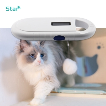 ISO 11784/5 FDX-B Handheld animal rfid tag reader microchips scanner low frequency Pet ID microchip Dog Cat Fish chip reader