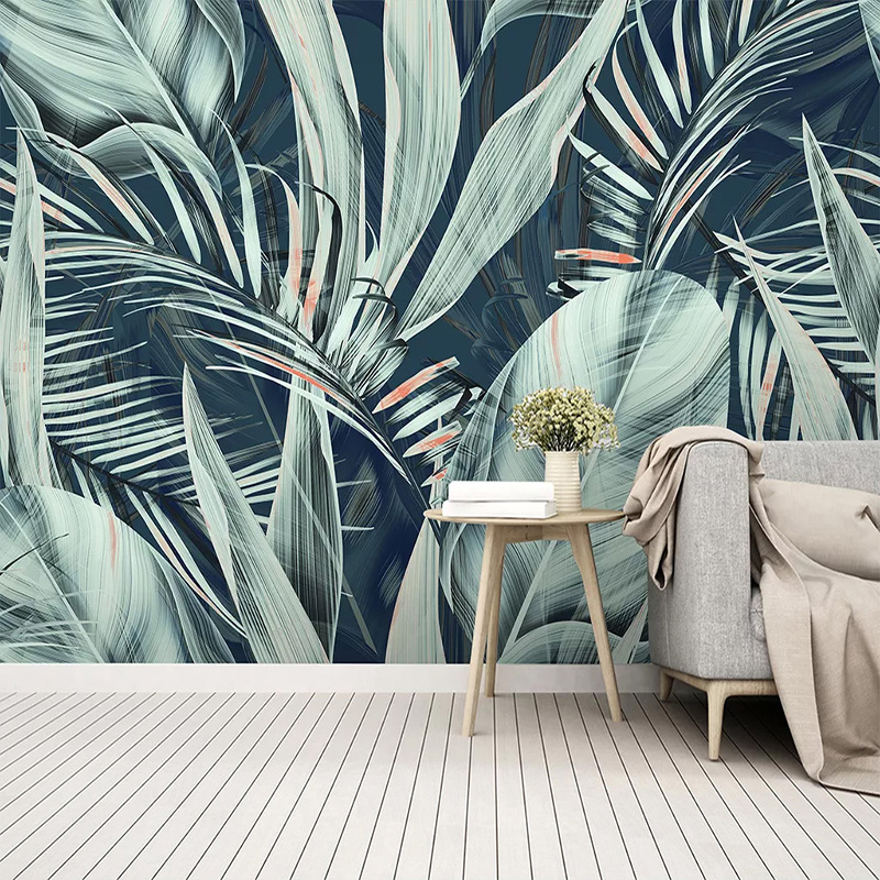 Custom Mural Wallpaper Hand Painted Tropical Rain Forest Leaves Wall Painting Restaurant Living Room Home Decor Wall Papers 3 D Buy At The Price Of 8 12 In Aliexpress Com Imall Com Explore trending designs from independent artists. custom mural wallpaper hand painted